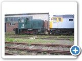 During 2006 James sometimes deputised for Motorail Logistics regular shunter - seen here shunting at Cotsworld Rail 47.